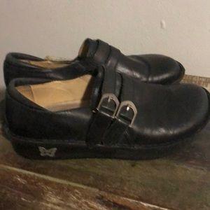 Algeria black leather shoes